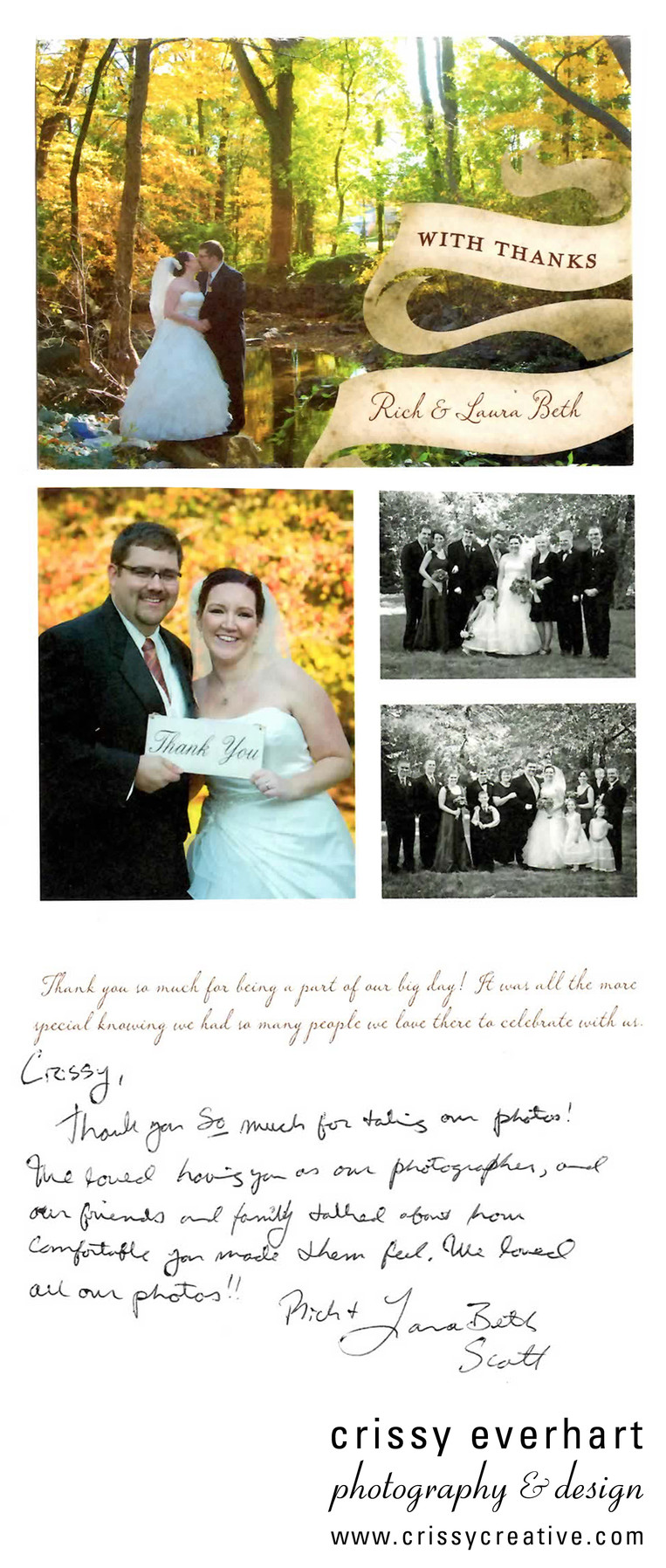 Rockwood Park wedding thank you note