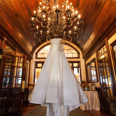 Wedding Dress at Ballyowen Gold Club in New Jersey