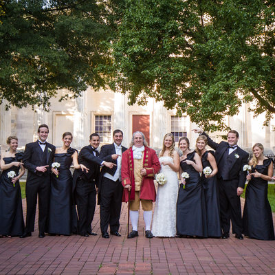 Philadelphia Wedding Party with Benjamin Franklin