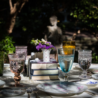 West Chester Wedding - Vintage China and Glassware