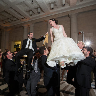 The Hora, a Jewish Wedding Tradition, in Philadelphia