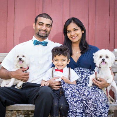 Family Portraits with Pets in Chester County