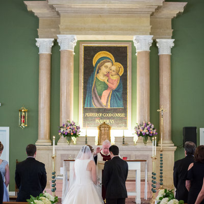 Malvern Prep Catholic Wedding Ceremony Blessing