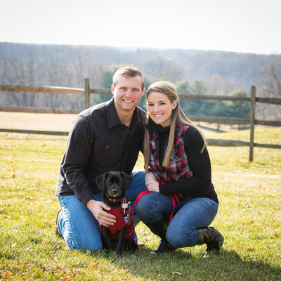 Couple's Portrait Session with New Puppy - Dog Photos