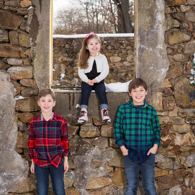 Rustic Winter Portraits in Chester County