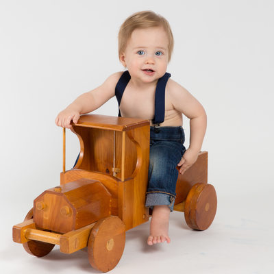 One Year Old Boy - Backdrop Pictures with Props