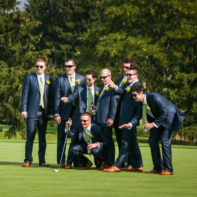 Penn Oaks Golf Club Fun Wedding Photographer
