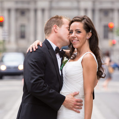 Couple in Front of City Hall on Broad Street