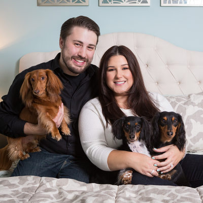 Anniversary Photos with Dachshunds - Pet Photographer