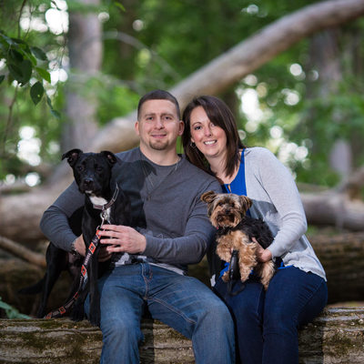 Engagement Photos with Dogs - Pet Photographer