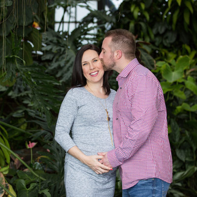 Longwood Gardens Maternity Session in Chester County