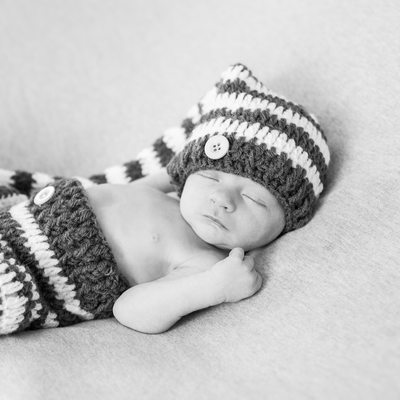 Malvern Newborn Portraits - B&W Studio Photographer