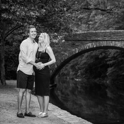 Wissahickon Valley Park Bridge Maternity Photos