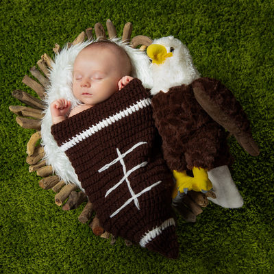 Philadelphia Eagles Sleeping Baby Newborn Photo