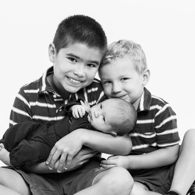 Three Brothers - Family Photography in Malvern