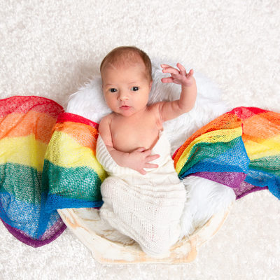 Rainbow Baby Newborn Portraits