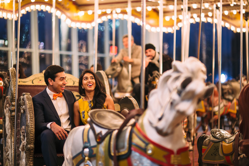 Jane's Carousel Brooklyn Bridge Park Engagement Photos