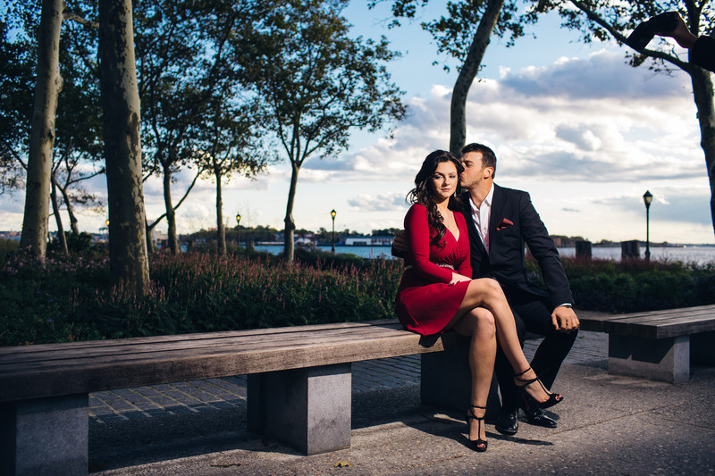 Battery Park NY Engagement Photographer