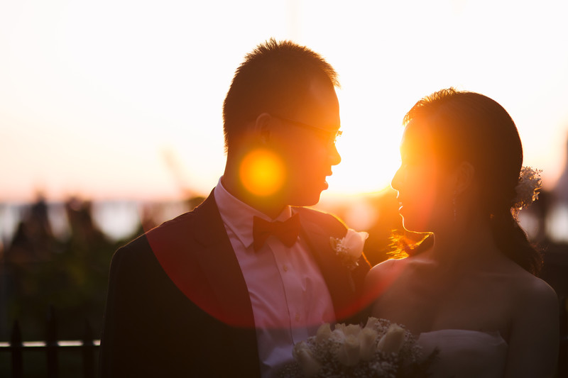 Golden Hour Wedding Portrait NYC Wedding