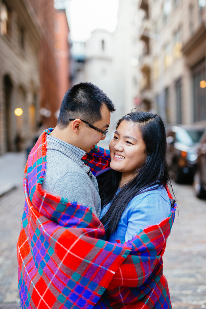 NYC Engagement Asian Couple