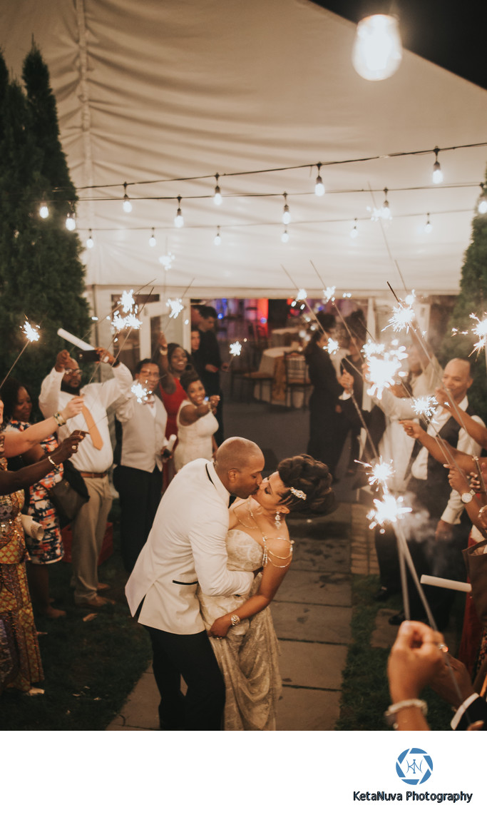 Sparkler Exit Wedding Photos - NJ Wedding Photography