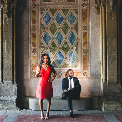 Bethesda Terrace Engagement Session