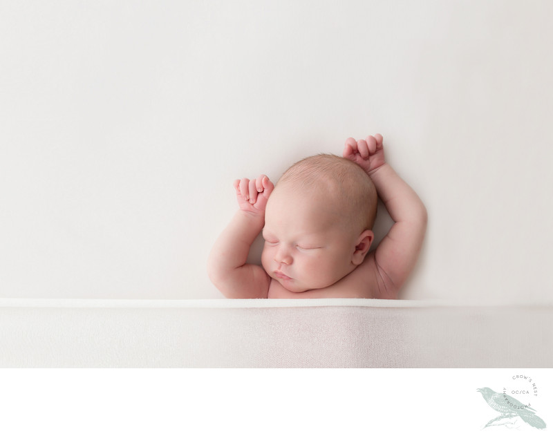 Minimal Modern Timeless Baby Photography Orange County