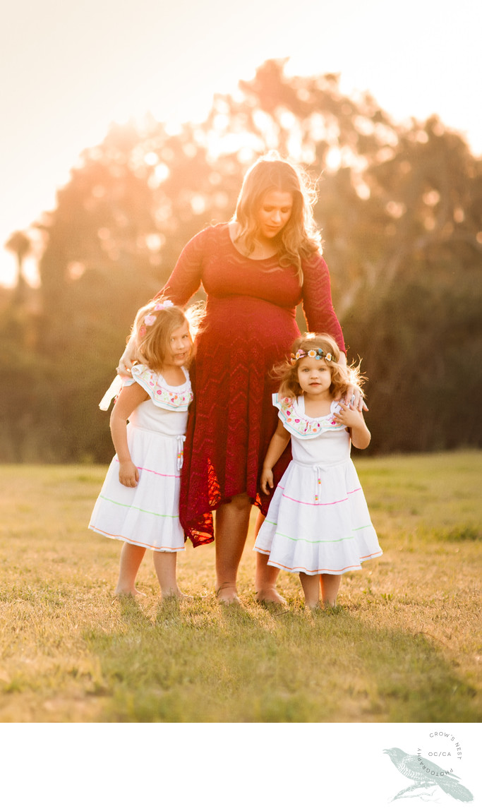 Golden Hour Maternity Family Photo Shoot Orange County