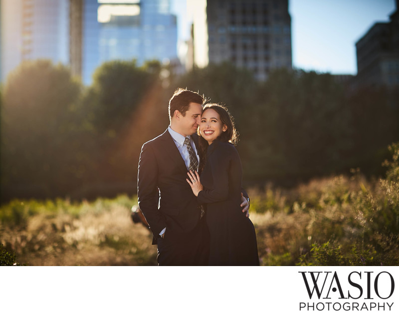 Engagement Photos at the Millennium Park Chicago