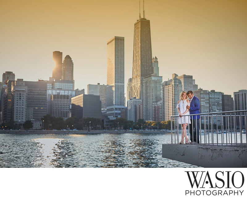 Chicago Skyline Engagement Pictures