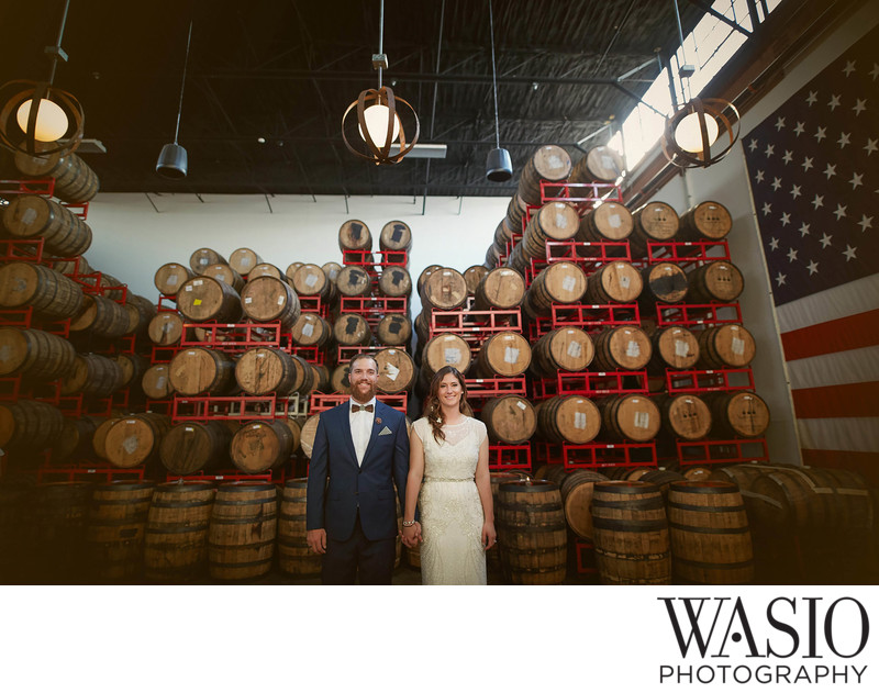 Revolution Brewery  Wedding Portrait
