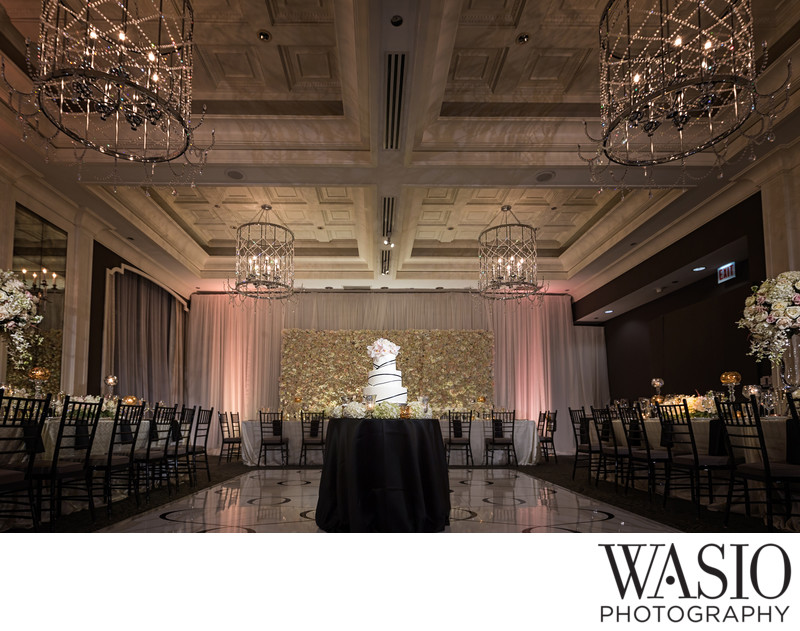 Waldorf Astoria Wedding Reception with Wedding Cake