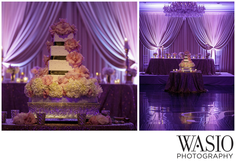 Purple-Rose-Decoration-Wedding-Cake