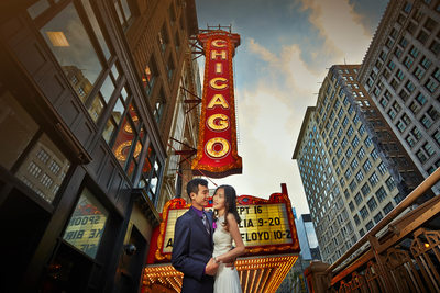Chicago Theater Wedding Photos