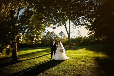 Sunset Wedding Photos at the Cantigny Park