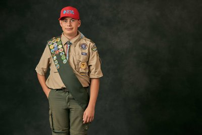 Boy Scout Studio Portrait