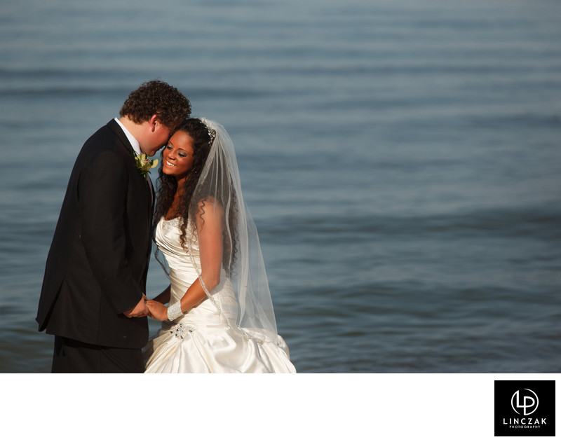 cleveland beach wedding photos