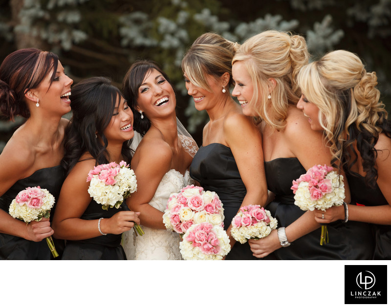bridemaids laughing in cleveland