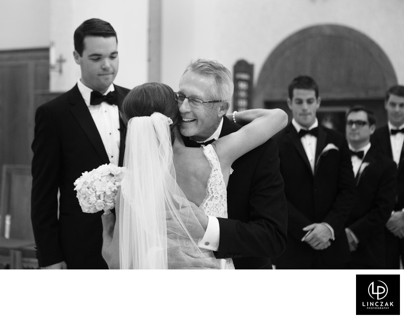 black and white cleveland wedding photos