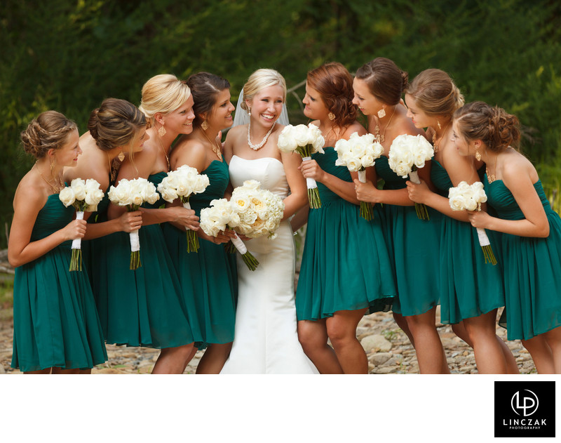gorgeous bridemaids in cleveland