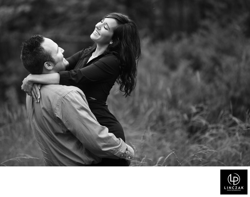 joyful engagement session