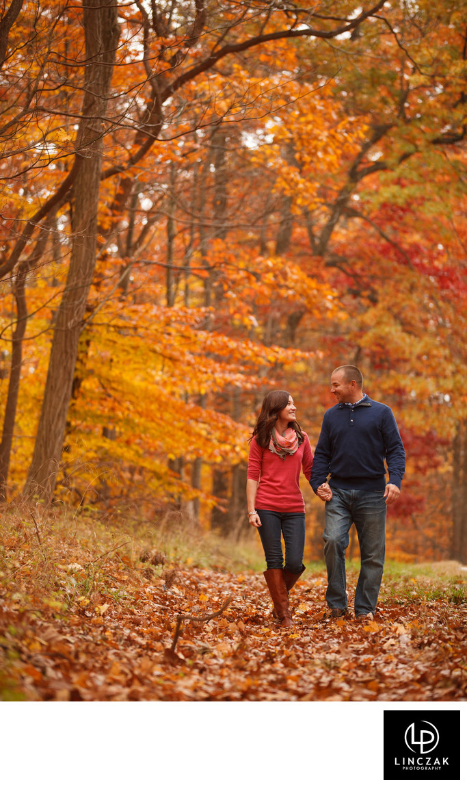 fall engagement session in cleveland