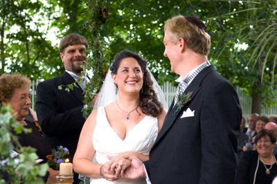 The wedding of Amy Hollander and Doug Milne