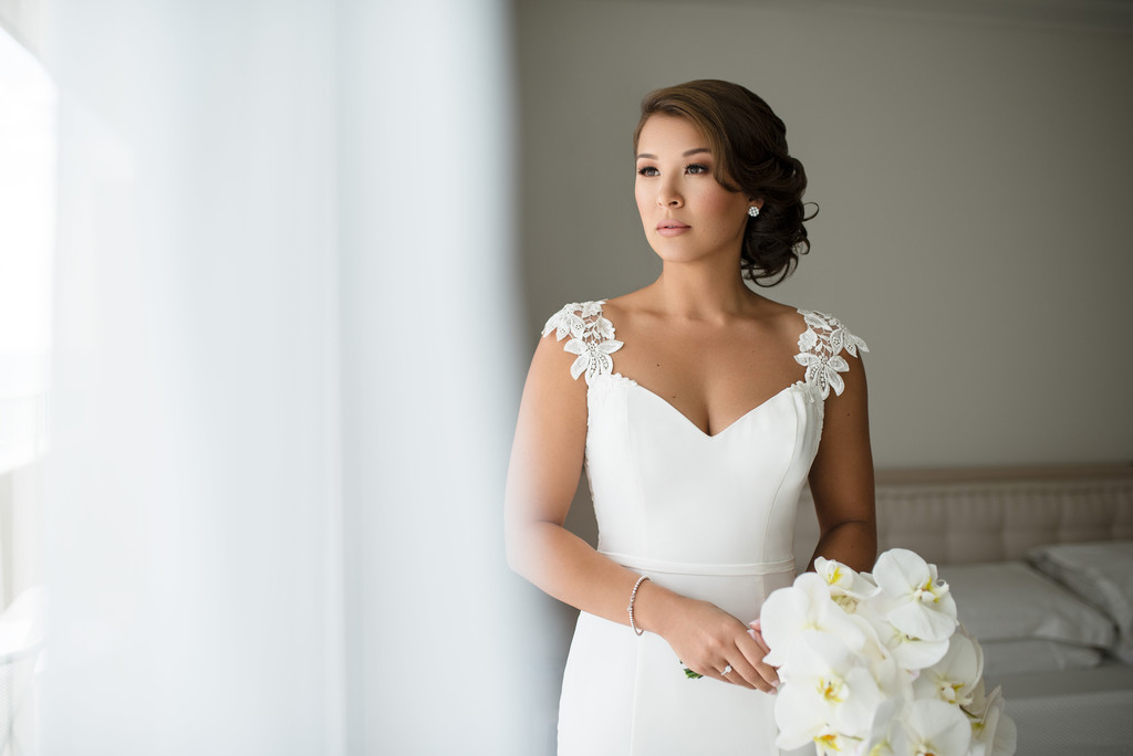 Wedding Photo of Bride - The Modern Honolulu, Hawaii