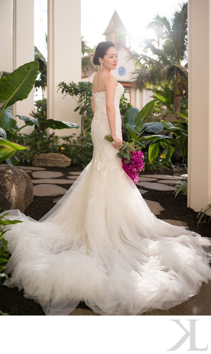 Bridal Portrait at the Four Seasons Oahu