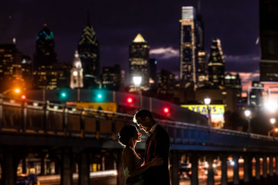 Philadelphia Skyline Wedding Photography
