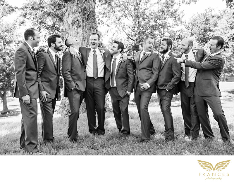 Groomsmen wedding photography Denver Colorado