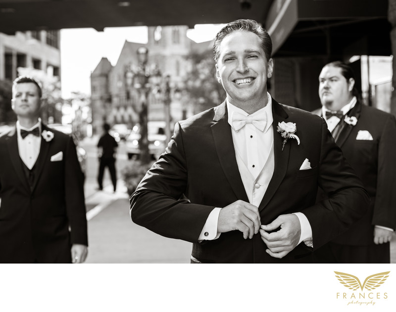 Brown Palace groom Denver wedding photographer
