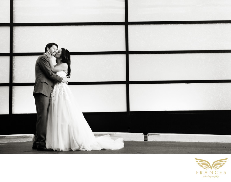 Couple Grand Hyatt Denver wedding photographer