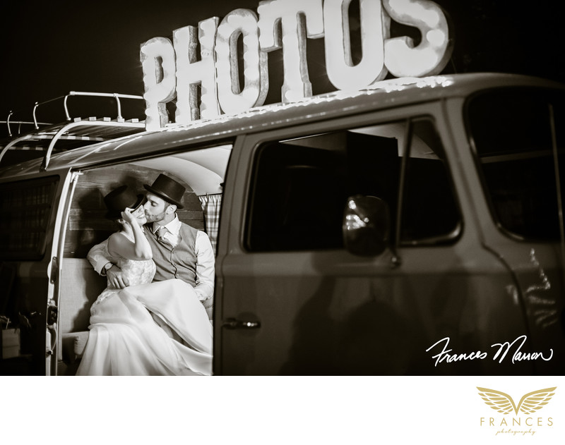 Photo booth wedding couple Denver wedding